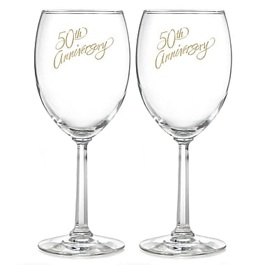 Hortense B. Hewitt, 50th Anniversary Wine Glasses, Clear