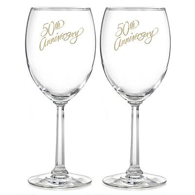 Hortense B. Hewitt, 50th Anniversary Wine Glasses, Clear