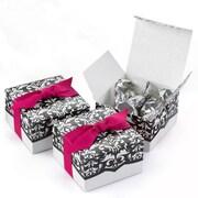 HBH™ Dynamic Design Favor Boxes, White/Black