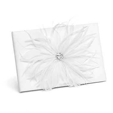 HBH™ Feathered Flair Guest Book, White