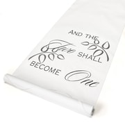 "HBH™ ""Two Shall Become One"" Aisle Runner With Pull Cord, 36"" x 100', White"