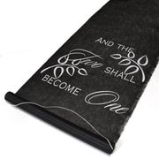 """HBH™ """"Two Become One"""" Aisle Runner With Pull Cord, 36"""" x 100', Black"""