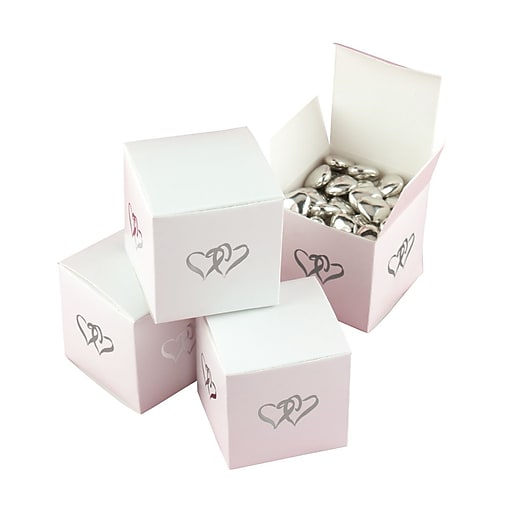 """HBH™ """"Linked at the Heart"""" Favor Boxes, White"""