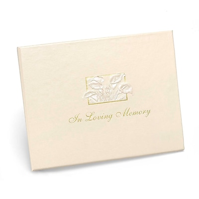 "HBH™ ""In Loving Memory"" Guest Book, Ivory"