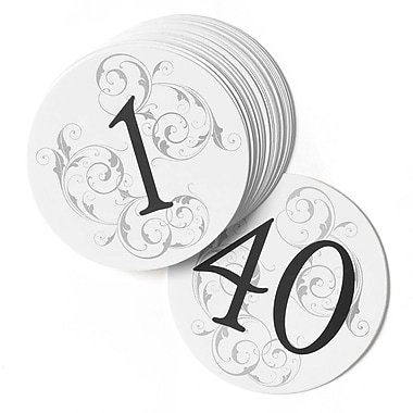HBH™ Round Filigree Table Number Cards