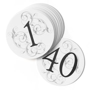 "HBH™ Round Filigree Table Number Cards ""1-40"""