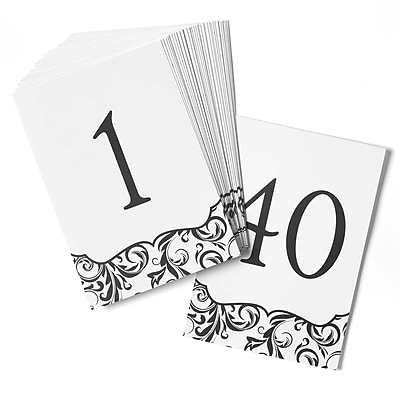HBH™ Flourish Table Number Cards