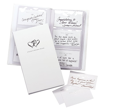 HBH™ Book of Wedding Wishes Set, White
