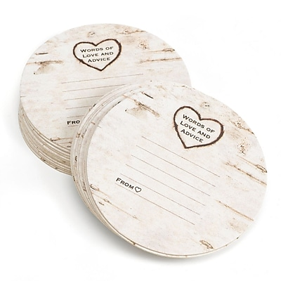 HBH™ Wood grain Design Coasters, White