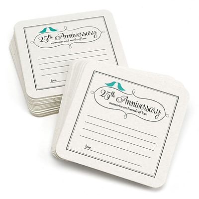 HBH™ 25th Anniversary Words of Love Coasters, White