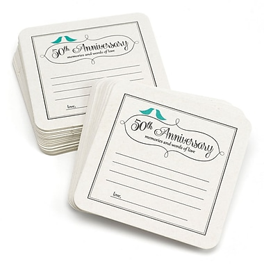 HBH™ 50th Anniversary Words of Love Coasters, White