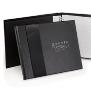 HBH™ Midnight Rendezvous Guest Book, Black