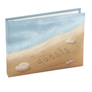 HBH™ Seaside Jewels Beach Guest Book, Blue and Brown