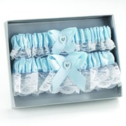 HBH™ Heart and Rhinestone Garter Set, Blue