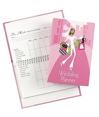 Hortense B. Hewitt, 48 Spiral-Bound Pages Wedding Planner, Pink