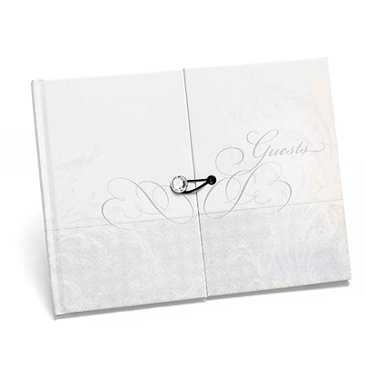 HBH™ Gatefold Guest Book, White