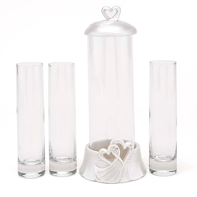 HBH Hearts Sand Ceremony Set, Clear/Ivory 26486