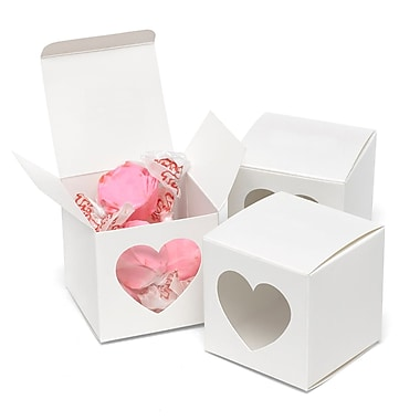 HBH™ Heart-Shaped Window Favor Boxes, White