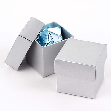 HBH™ 2-Piece Mix-and-Match Favor Boxes, Silver Shimmer