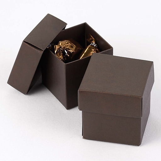 HBH™ 2-Piece Mix-and-Match Favor Boxes, Mocha