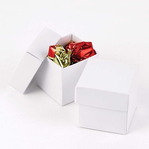HBH™ 2-Piece Mix-and-Match Favor Boxes, White Shimmer