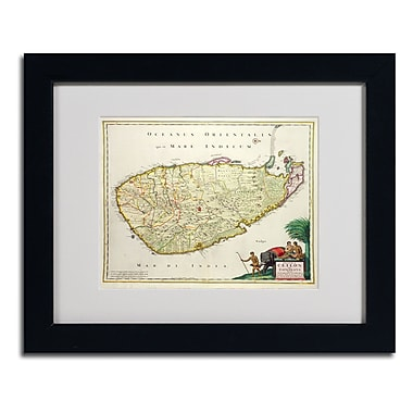 Trademark Fine Art 'Map of Ceylon 1626' 11