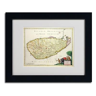 Trademark Fine Art 'Map of Ceylon 1626' 11