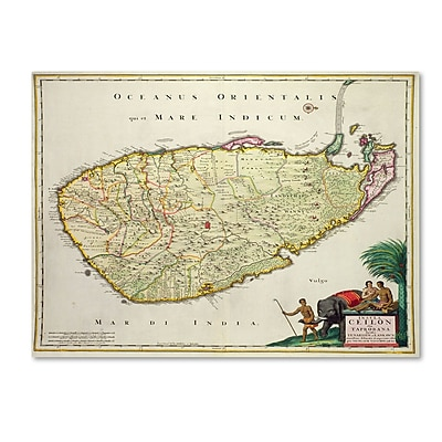 Trademark Fine Art 'Map of Ceylon 1626' 35