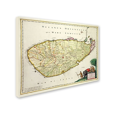 Trademark Fine Art 'Map of Ceylon 1626' 26