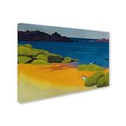 "Trademark Fine Art 'Bay of Tregastel 1917' 16"" x 24"" Canvas Art"