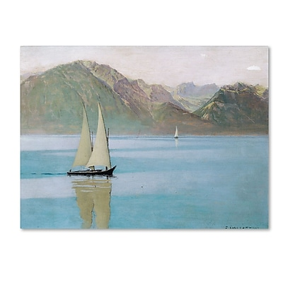 Trademark Fine Art 'Boat On Lake Geneva 1892' 24