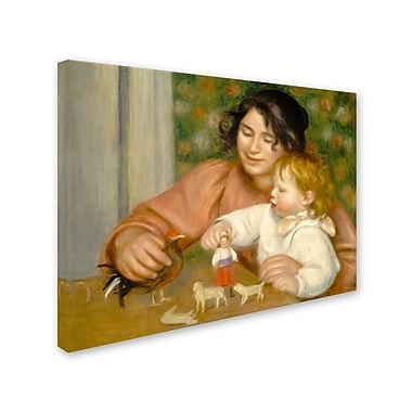 Trademark Fine Art 'Child With Toys 1895-96'
