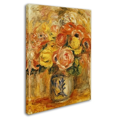 Trademark Fine Art 'Fleurs Dans Un Vase Bleu et Blanc' 24