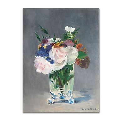 Trademark Fine Art 'Flowers In a Crystal Vase 1882'
