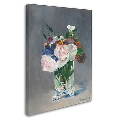 Trademark Fine Art 'Flowers In a Crystal Vase 1882' 35