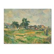 "Trademark Fine Art 'LandScape Near Paris 1876' 18"" x 24"" Canvas Art"