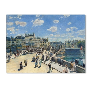 Trademark Fine Art 'Pont Neuf Paris 1872' 18