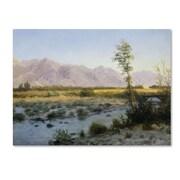 """Trademark Fine Art 'Prairie Landscape' 35"""" x 47"""" Canvas Art"""