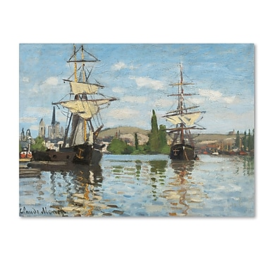 Trademark Fine Art 'Ships Riding On the Seine' 35