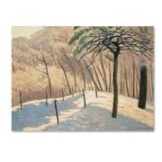 "Trademark Fine Art 'Snowy LandScape 1925' 24"" x 32"" Canvas Art"