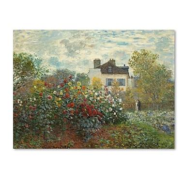 Trademark Fine Art 'The Artist's Garden in Argentueil'