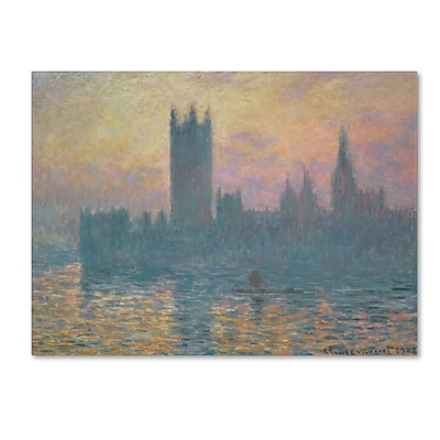 Trademark Fine Art 'The Houses of Parliament Sunset' 35