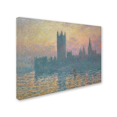 Trademark Fine Art 'The Houses of Parliament Sunset' 24