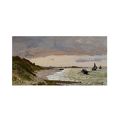 Trademark Fine Art 'The Seashore at Sainte-Adresse' 10