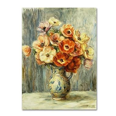Trademark Fine Art 'Vase d'Anemones' 14
