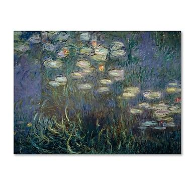 Trademark Fine Art 'Water Lilies 1840-1926'