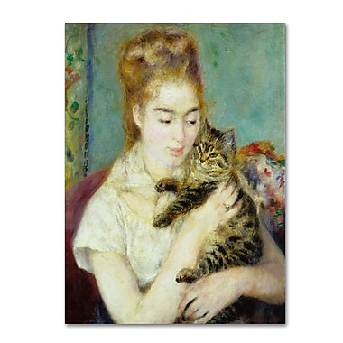 Trademark Fine Art 'Woman With a Cat 1875' 35