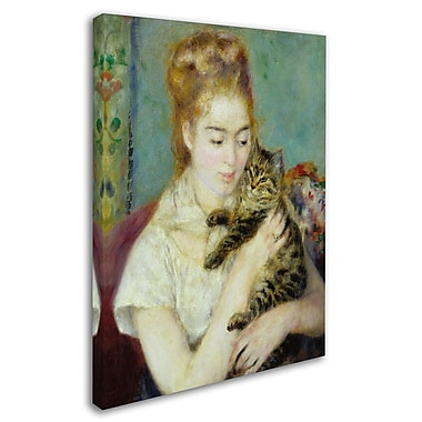 Trademark Fine Art 'Woman With a Cat 1875' 24