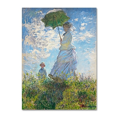 Trademark Fine Art 'Woman With a Parasol 1875' 35