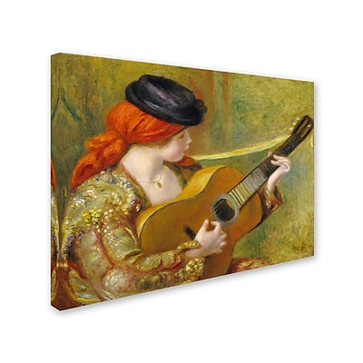 Trademark Fine Art 'Young Spanish Woman With a Guitar' 24